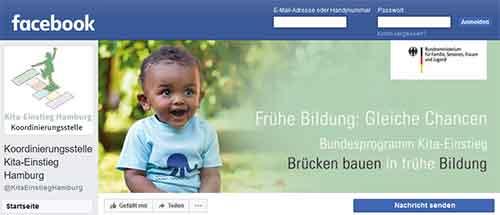 Kita-Einstieg Facebook-Seite